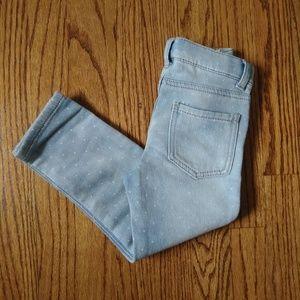 🆕 Girls Genuine Kids Knit Denim Jegging Size 4T